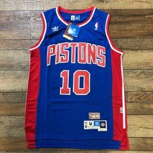 NWT Dennis Rodman Pistons Adidas NBA Jersey NEW